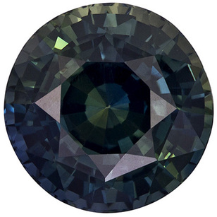 5.59 carats - GIA Certified No Treatment Round Cut Blue Green Sapphire Loose Gem, Blue Green, 10.0 mm Size
