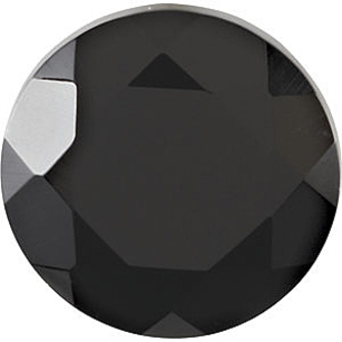 Faceted Round Genuine Black Onyx in Grade AAA