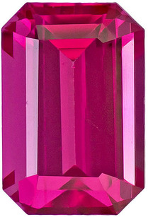 Hard to Find Spinel Loose Gem in Emerald Cut, Hot Pink With a Tinge of Red, 6.7 x 4.5 mm, 1.08 carats