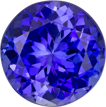 Rich Fine Blue Tanzanite Loose Cut Gem in Round Cut, 8.5 mm, 3.03 carats