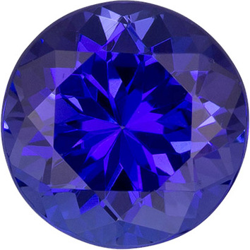 Amazing Blue Color Tanzanite Gem in Round Cut, 7.1 mm, 1.63 carats - SOLD