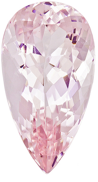 Elegant Morganite Loose Gem in Pear Cut, Baby Pink With Peach, 18.1 x 9.8 mm, 7.26 carats