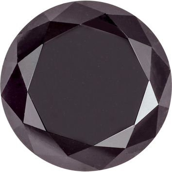 Standard Size Quality Loose Round Shape Enhanced Black Diamond I3 Clarity, 2.30 mm in Size, 0.07 Carats
