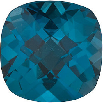 Grade AAA - Checkerboard Antique Square Genuine London Blue Topaz 5.00 mm to 12.00 mm