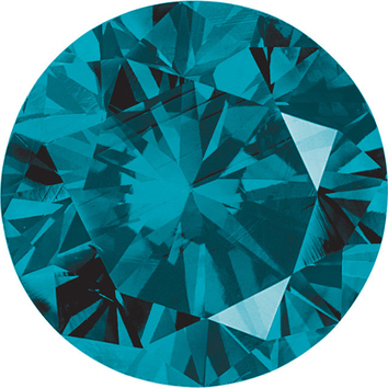 Genuine Quality Loose Faceted Round Shape Enhanced Blue Diamond SI Clarity, 3.20 mm in Size, 0.12 Carats