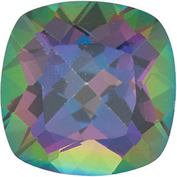 MYSTIC GREEN TOPAZ Antique Square Cut Gems  - Calibrated