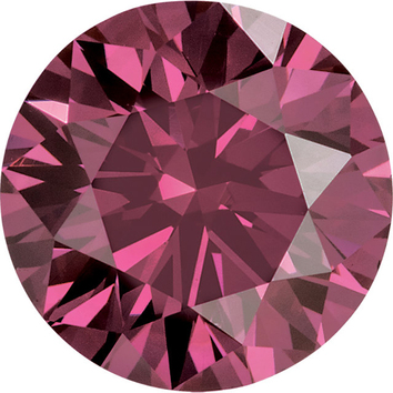 Calibrated Loose Faceted Round Shape Enhanced Pink Diamond SI Clarity, 2.70 mm in Size, 0.07 Carats