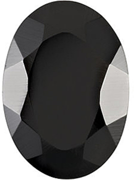 Grade AAA - Oval Faceted Black Onyx 5.00 x 3.00 mm to 14.00 x 12.00 mm
