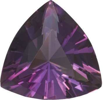 Vivid Awesome Natural Amethyst Loose Gem in Trillion German Cut, Rich Purple Color in Huge 19.0 mm, 17.69 carats