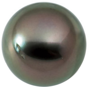 Loose Cultured Beautiful Natural Round Shape Undrilled Medium Tahitian Cultured Pearl Grade B, 7.9 carats, 10.00 mm in Size, 7.9 carats