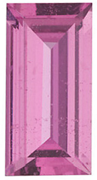 Grade AAA - Baguette Genuine Pink Sapphire 5.00 x 2.50 mm to 7.00 x 3.50 mm