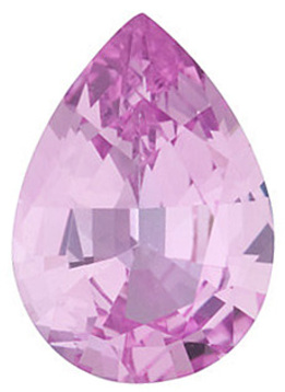 Grade A - Pear Genuine Pink Sapphire 4.00 x 3.00 mm to 7.00 x 5.00 mm