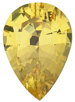 YELLOW SAPPHIRE Pear Cut Gems  - Calibrated