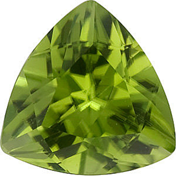 Grade AAA - Trillion Cut Peridot 4.00 mm to 7.00 mm