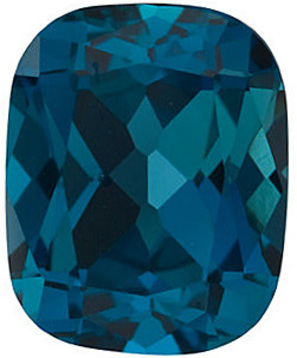 Grade AAA - antique cushion Genuine London Blue Topaz 8.00 x 6.00 mm to 14.00 x 10.00 mm