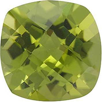 Grade AAA - Checkerboard Antique Square Peridot 5.00 mm to 8.00 mm