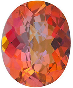 Grade AAA - Checkerboard Oval Genuine Mystic Sunrise Topaz 10.00 x 8.00 mm to 14.00 x 10.00 mm
