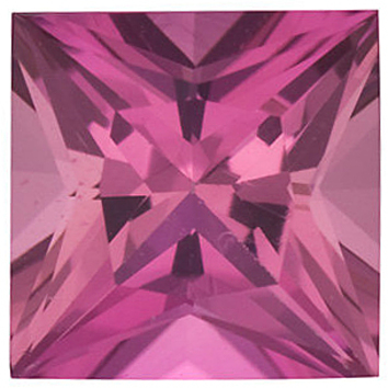 PINK TOURMALINE Princess Cut Gems  - Calibrated