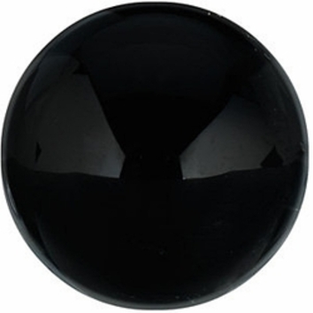 Grade AAA - Cabochon Round Black Onyx 3.00 mm to 16.00 mm