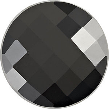 Grade AAA - Checkerboard Round Black Onyx 7.00 mm to 8.00 mm
