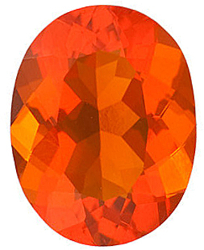 Grade AA - Oval Genuine Mexican Fire Opal 4.00 x 3.00 mm to 10.00 x 8.00 mm