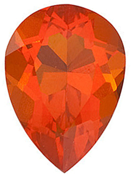 Grade AA - Pear Genuine Mexican Fire Opal 5.00 x 3.00 mm to 8.00 x 5.00 mm