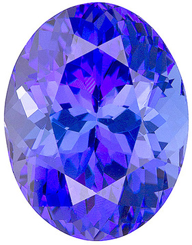 Quality Natural Loose Cut Oval Shape Tanzanite Gem Grade A, 7.00 x 5.00 mm in Size, 0.85 Carats