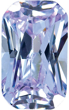 PURPLE CUBIC ZIRCONIA Radiant Cut Gems - Calibrated