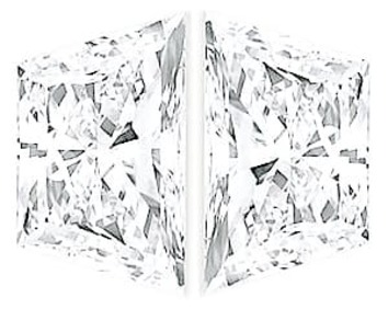Natural Diamond Pair, Trapezoid Brilliant Cut, G-H Color VS Clarity, 4.70 x 2.70 mm in Size, 0.45 Carats