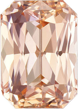No Treatment Orange Pink Peach Rich Ceylon Sapphire Loose Gem in Radiant Cut, 7.2 x 5.1 mm, 1.55 Carats - With GIA Certificate - SOLD