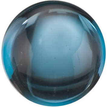 Grade AAA - Cabochon Round Genuine London Blue Topaz 4.00 mm to 10.00 mm