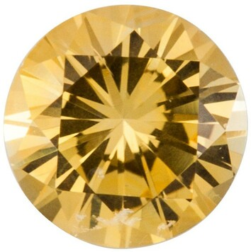 Grade AA - Precision Cut Round Genuine Yellow Sapphire 1.50 mm to 4.00 mm