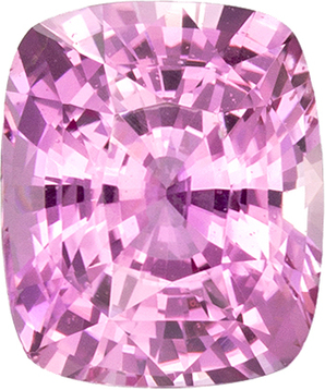 Pure Pink Sapphire Loose Gem in Cushion Cut, 7.3 x 6.1 mm, 1.73 Carats - SOLD