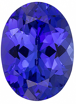 Cut Natural Quality Oval Shape Tanzanite Gem Grade AAA, 5.00 x 4.00 mm in Size, 0.37 Carats