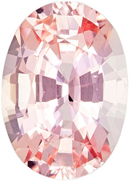No Treatment Pink Orange Peach Sapphire from Madagascar Gem in Oval Cut, 7.0 x 5.0 mm, 0.95 Carats - With GRS Certficate
