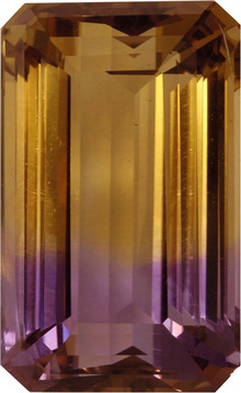 Huge Loose Ametrine in German Cut, Strong Purple Yellow Colors in 23.5 x 14.6 mm, 32.0 carats