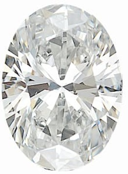 Diamond Melee, Oval Shape, G-H Color - SI1 Clarity, 6.00 x 4.00 mm in Size, 0.5 Carats