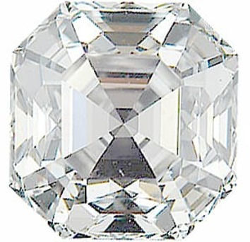 Diamond Melee, Asscher Shape, G-H Color - VS Clarity, 3.6 mm in Size, 0.25 Carats