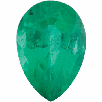 Emerald Gemstone, Pear Shape, Grade A, 5.00 x 3.50 mm in Size, 0.23 Carats