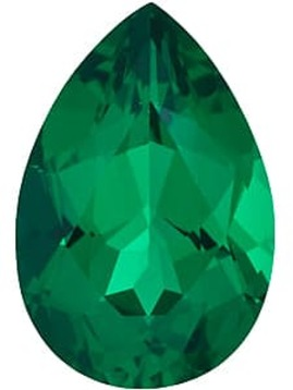 Emerald Gemstone, Pear Shape, Grade AAA, 5.00 x 4.00 mm in Size, 0.23 Carats