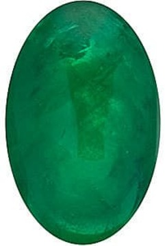 Emerald Stone, Oval Shape Cabochon, Grade AA, 6.00 x 4.00 mm in Size, 0.48 Carats