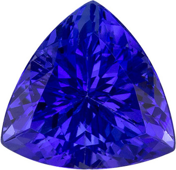 Vivid Rich Blue Tanzanite Gem in Trillion Cut, 7.0 mm, 1.31 carats - SOLD