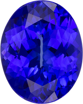 Vivid Color Oval Tanzanite Gem, Stunning Color in 10 x 7.9 mm, 2.52 carats