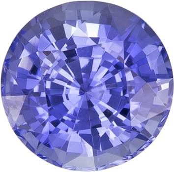 Unheated Cornflower Blue Sapphire Bright Gem in Round Cut, 6.05 x 6.15 x 4.28 mm, 1.19 carats GIA Certified