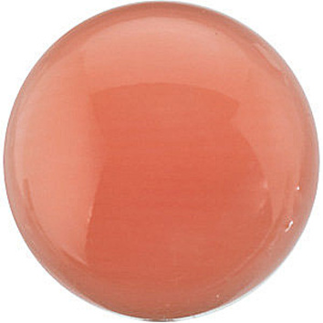 Calibrated Size Genuine Beautiful Round Shape Cabochon Pink Coral Natural , Loose Gemstone Grade AA, 10.00 mm in Size