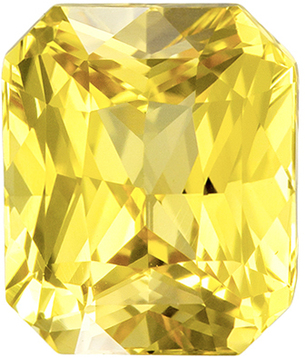 No Heat GIA Yellow Sapphire Radiant Gem with GIA Cert., 7.43 x 6.29 x 4.56 mm, 2.18 carats - SOLD