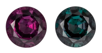 Excellent Color Change Round Alexandrite Gem - Well Cut & Clean, 5.3mm, 0.68 carats total - SOLD