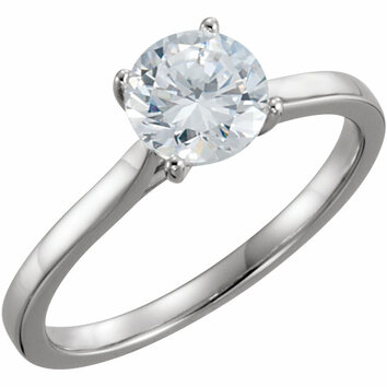 Continuum Sterling Silver 1 CTW Diamond Solitaire Engagement Ring