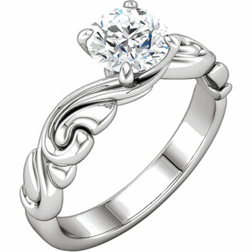 Continuum Sterling Silver 1 CT Diamond Engagement Ring