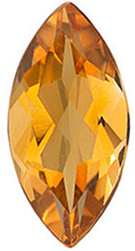 Standard Size Faceted Loose Marquise Shape Citrine Gemstone Grade AA, 14.00 x 7.00 mm in Size, 2.35 carats